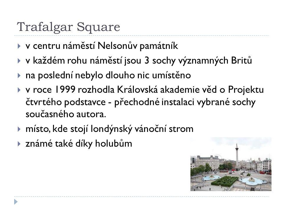 Trafalgar Square v centru náměstí Nelsonův památník
