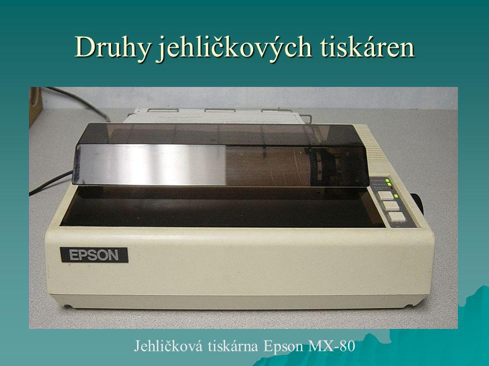 Druhy jehličkových tiskáren