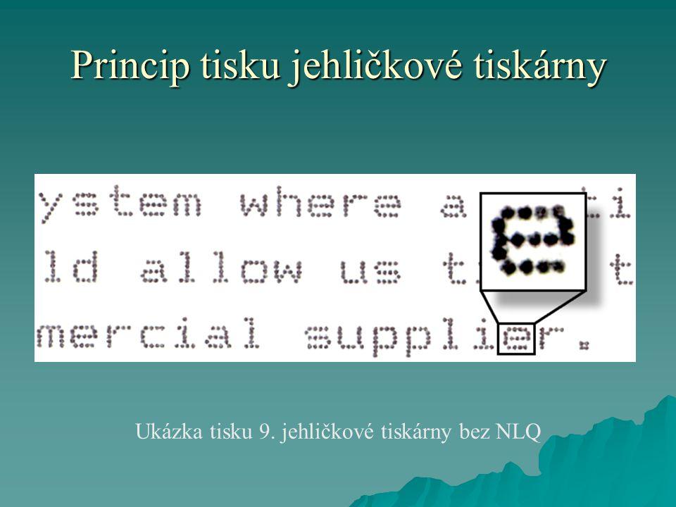 Princip tisku jehličkové tiskárny