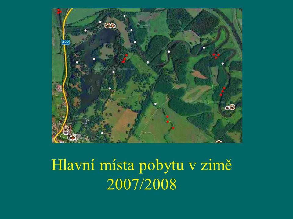 Hlavní místa pobytu v zimě 2007/2008
