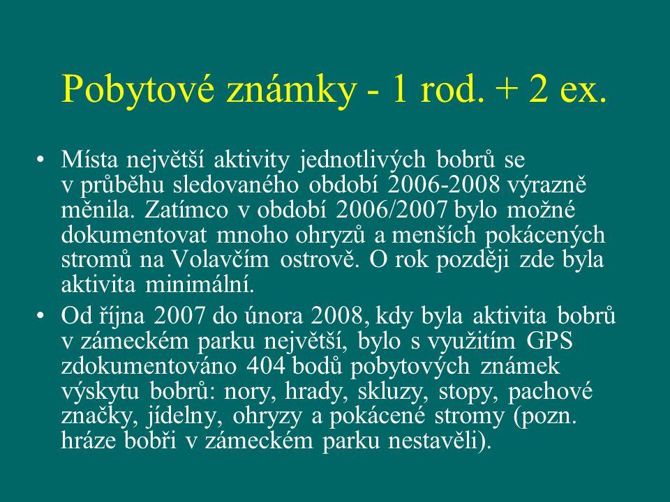Pobytové známky - 1 rod. + 2 ex.