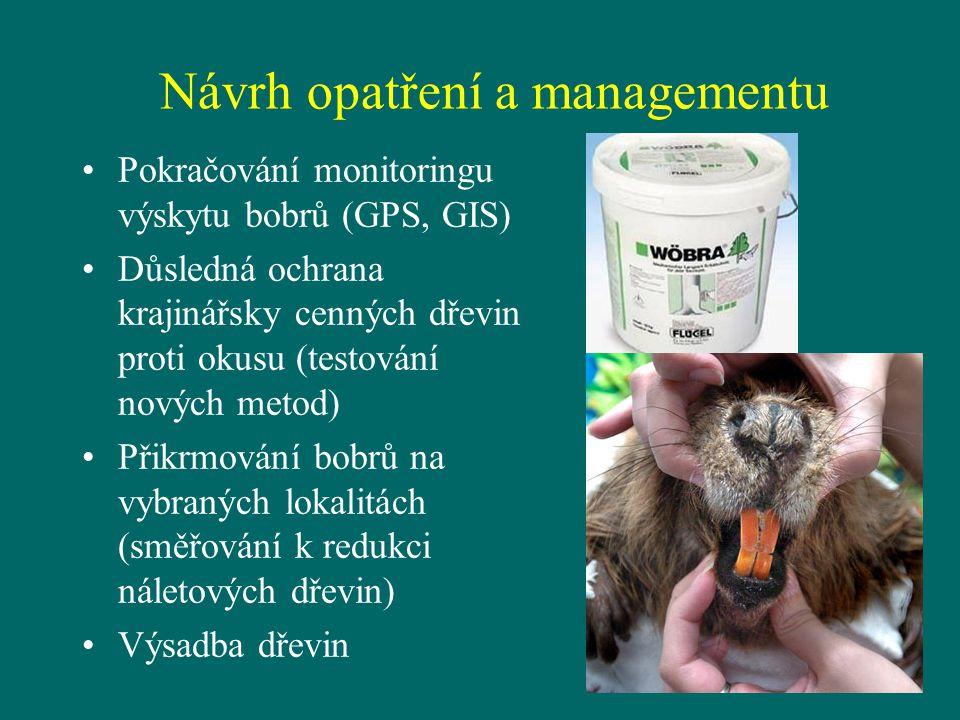 Návrh opatření a managementu