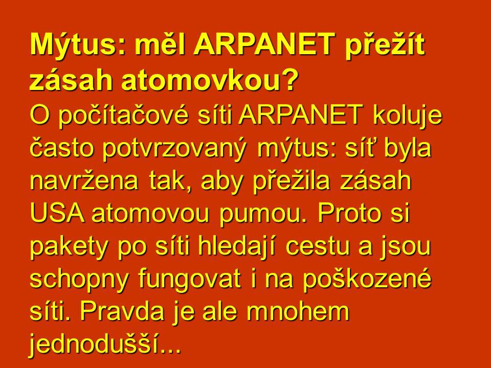 Mýtus: měl ARPANET přežít zásah atomovkou
