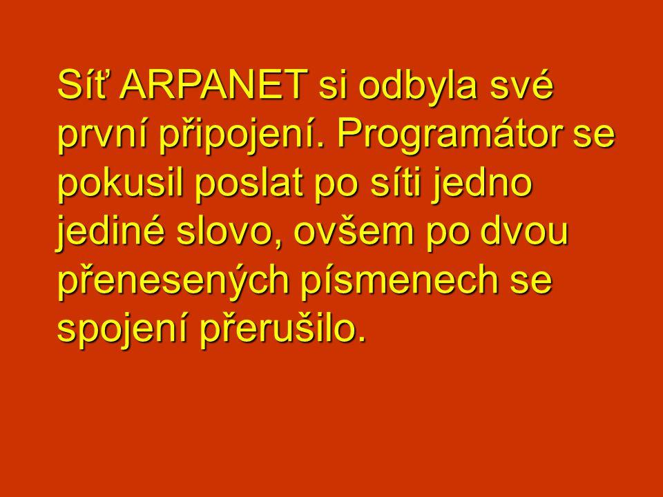 Síť ARPANET si odbyla své první připojení