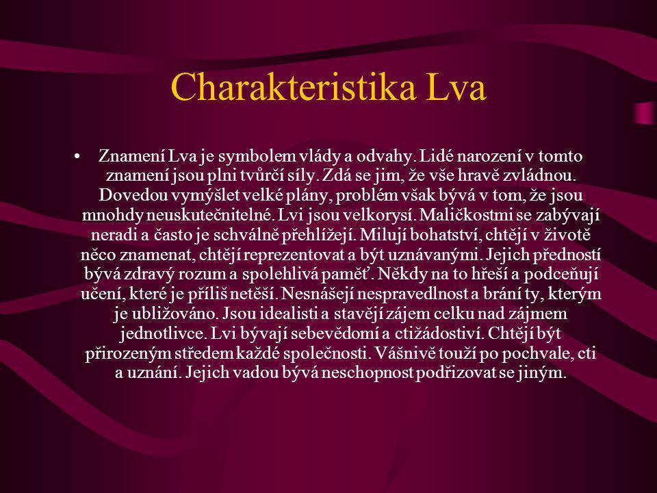 Charakteristika Lva