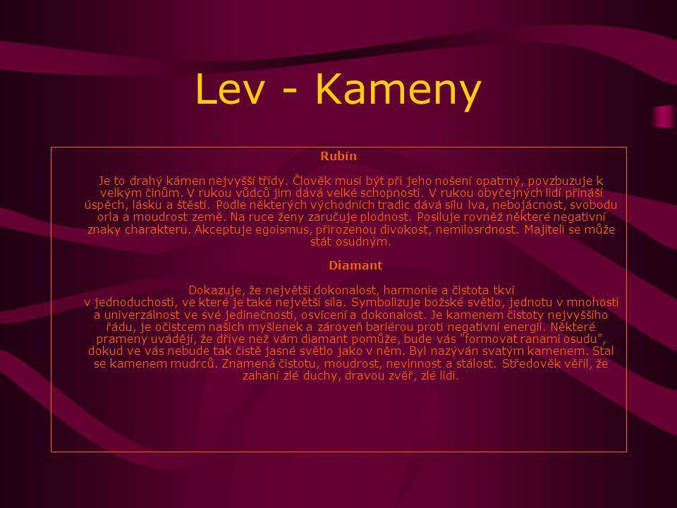 Lev - Kameny