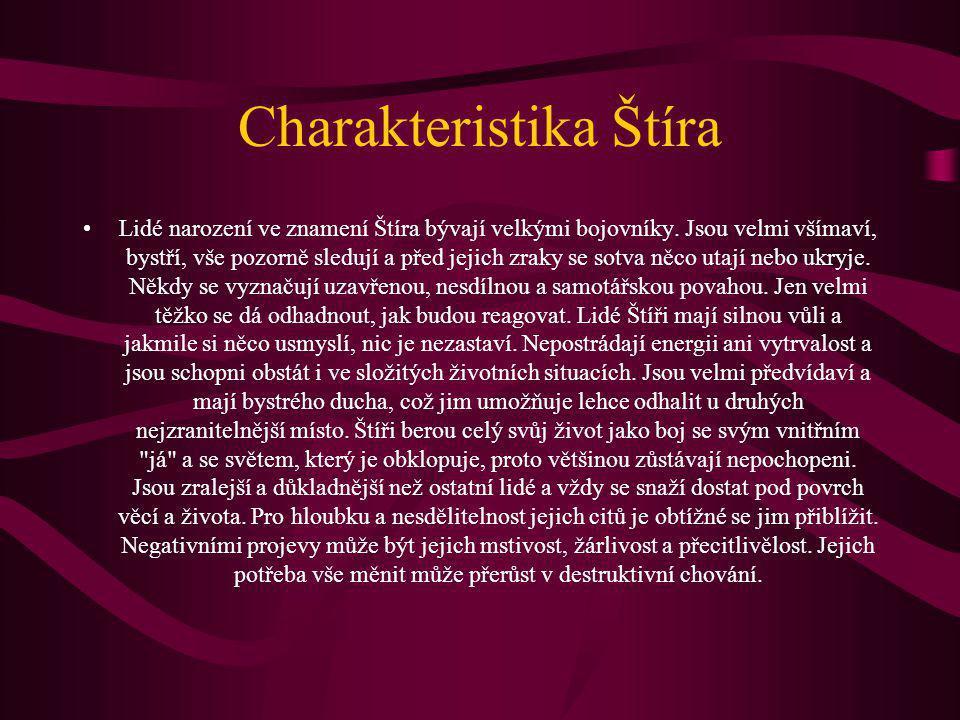 Charakteristika Štíra