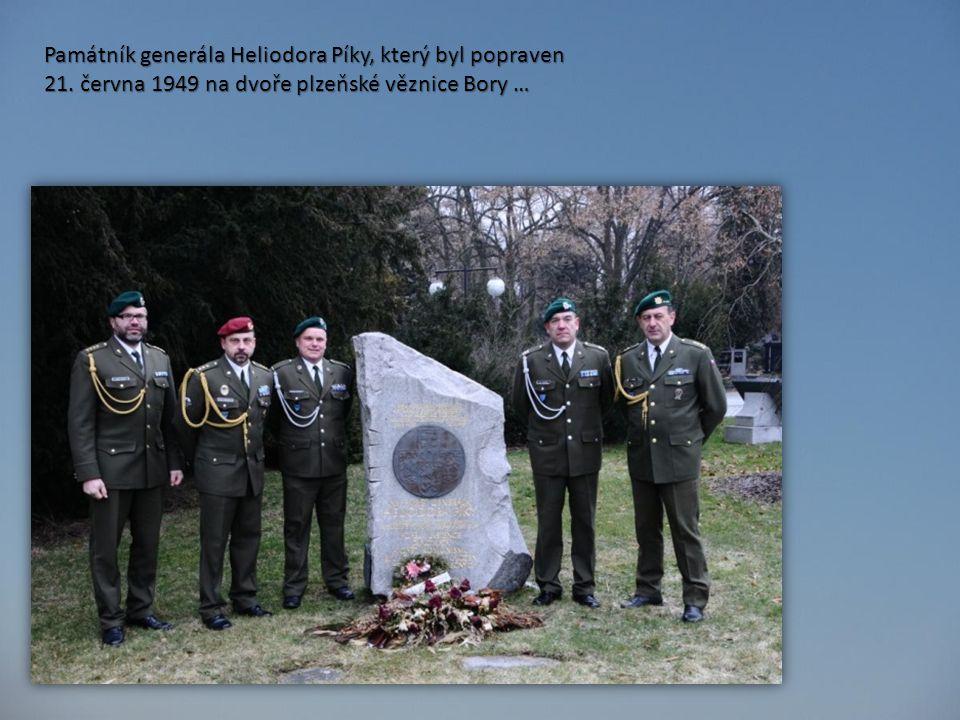 Památník generála Heliodora Píky, který byl popraven