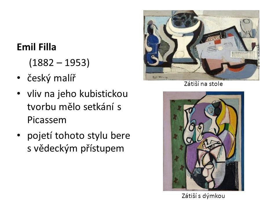 vliv na jeho kubistickou tvorbu mělo setkání s Picassem