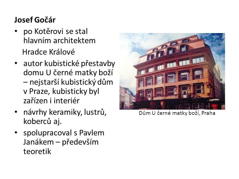po Kotěrovi se stal hlavním architektem Hradce Králové
