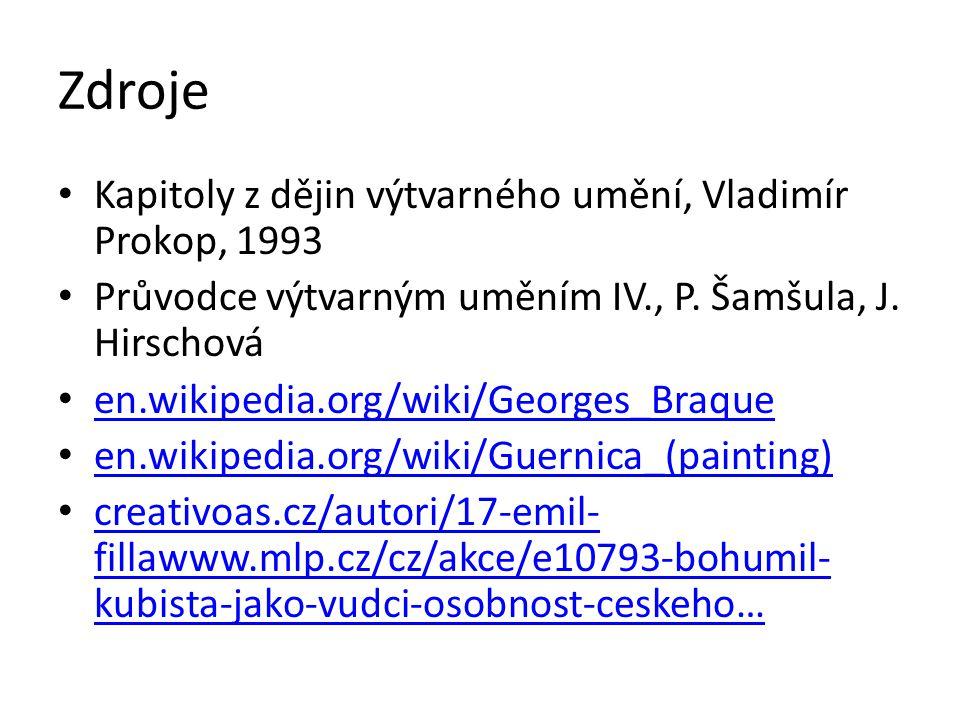 Zdroje Kapitoly z dějin výtvarného umění, Vladimír Prokop, 1993