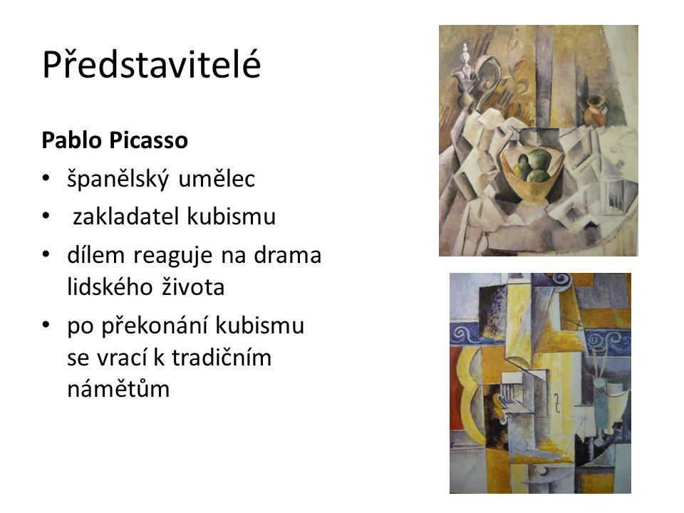 Představitelé Pablo Picasso španělský umělec zakladatel kubismu