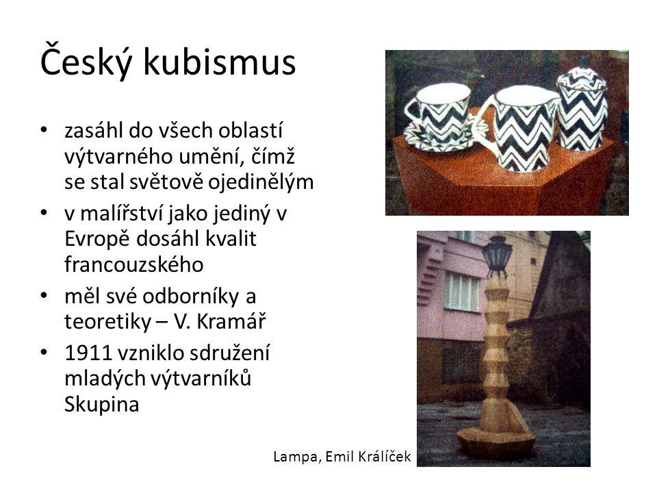 Český kubismus zasáhl do všech oblastí výtvarného umění, čímž se stal světově ojedinělým.