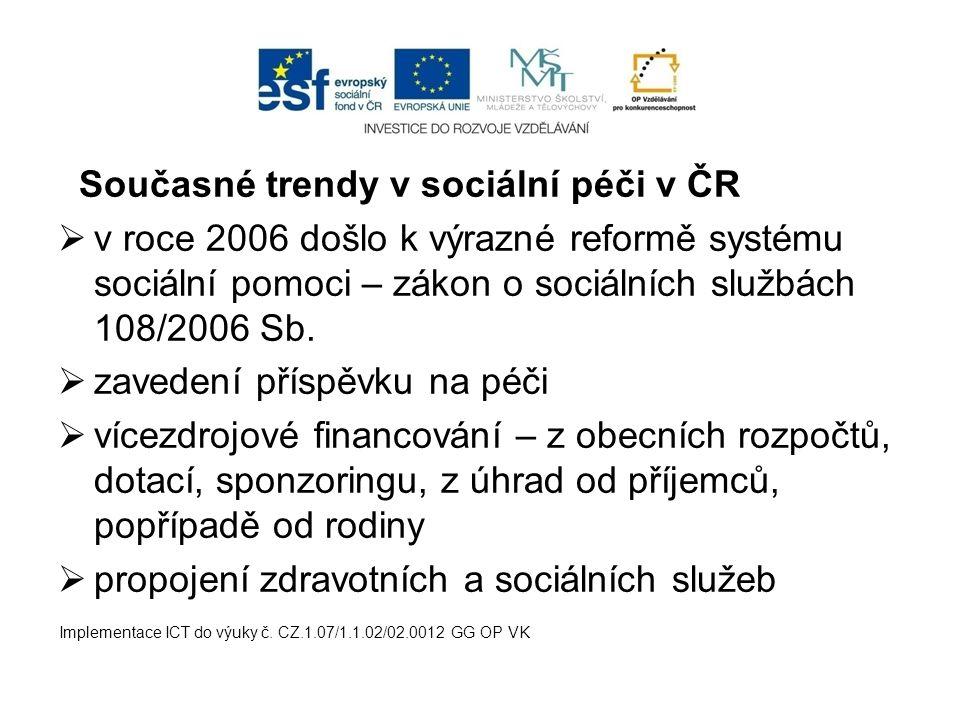 Současné trendy v sociální péči v ČR