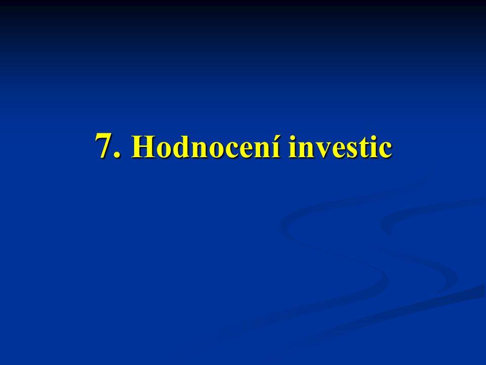 7. Hodnocení investic