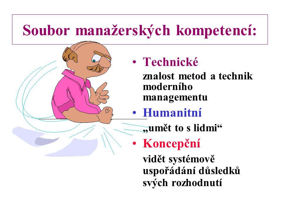 Soubor manažerských kompetencí: