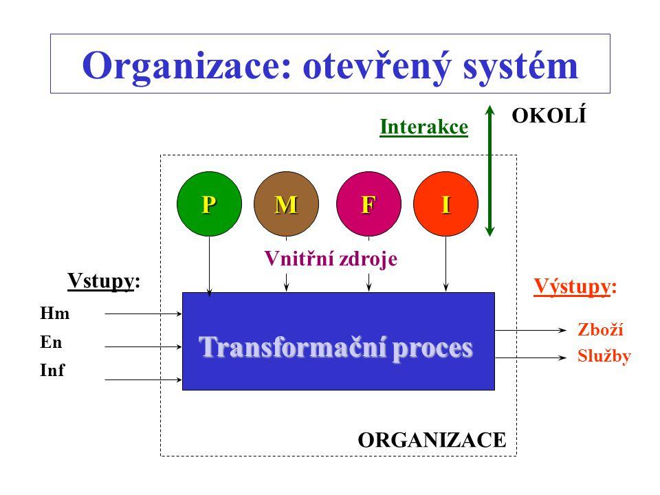 Organizace: otevřený systém
