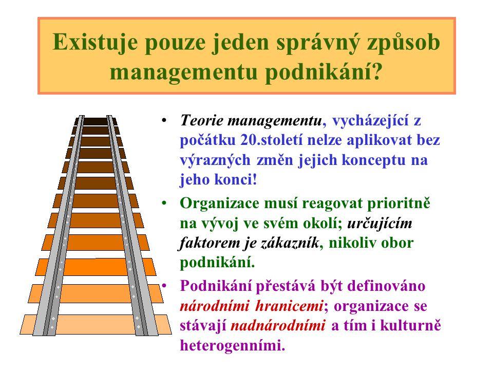 Existuje pouze jeden správný způsob managementu podnikání