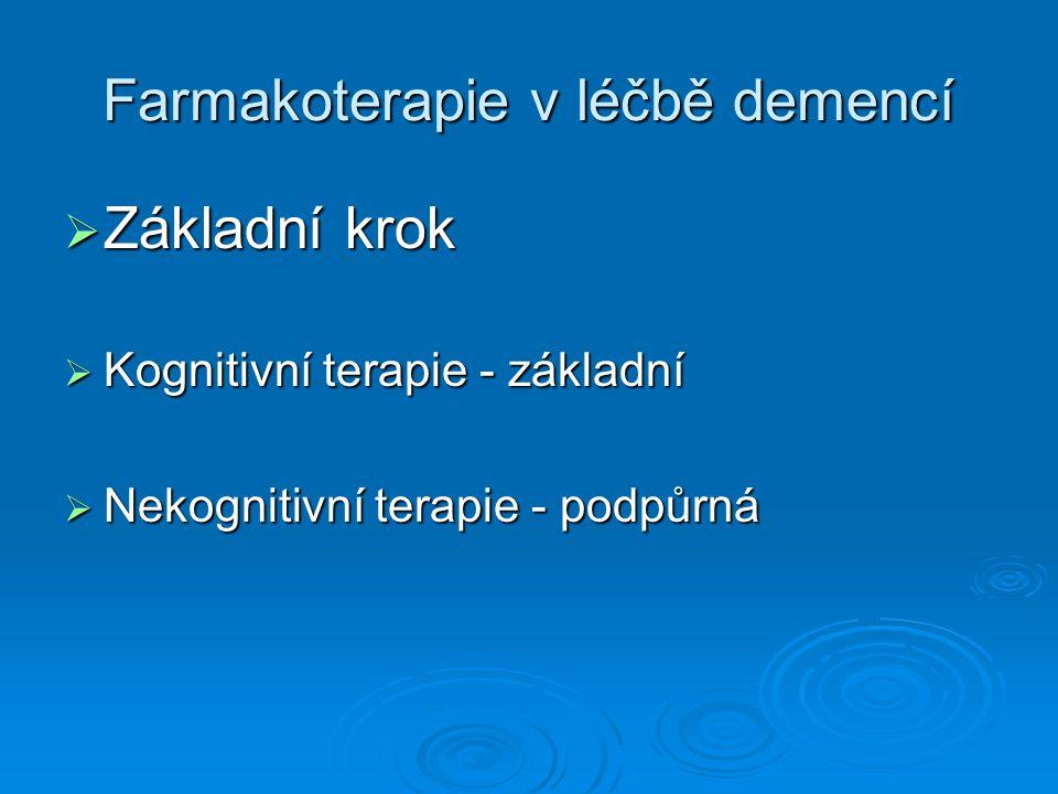 Farmakoterapie v léčbě demencí