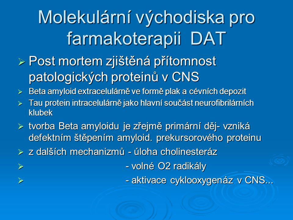 Molekulární východiska pro farmakoterapii DAT