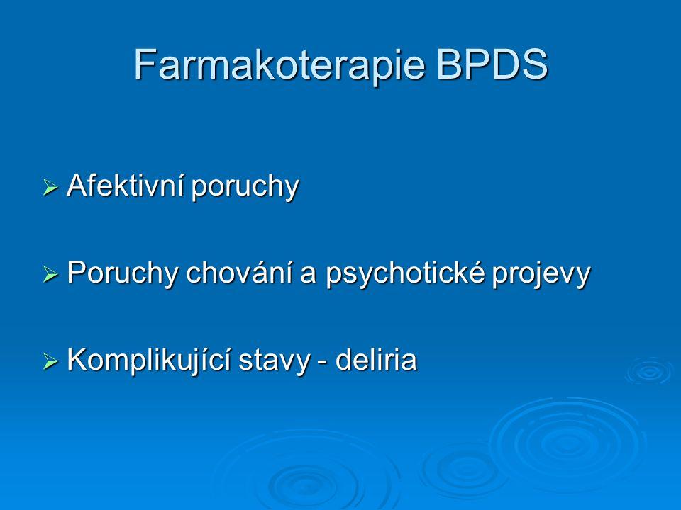 Farmakoterapie BPDS Afektivní poruchy