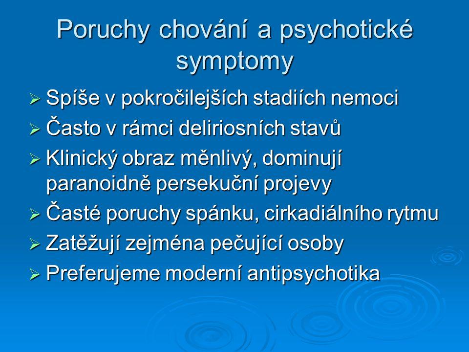 Poruchy chování a psychotické symptomy