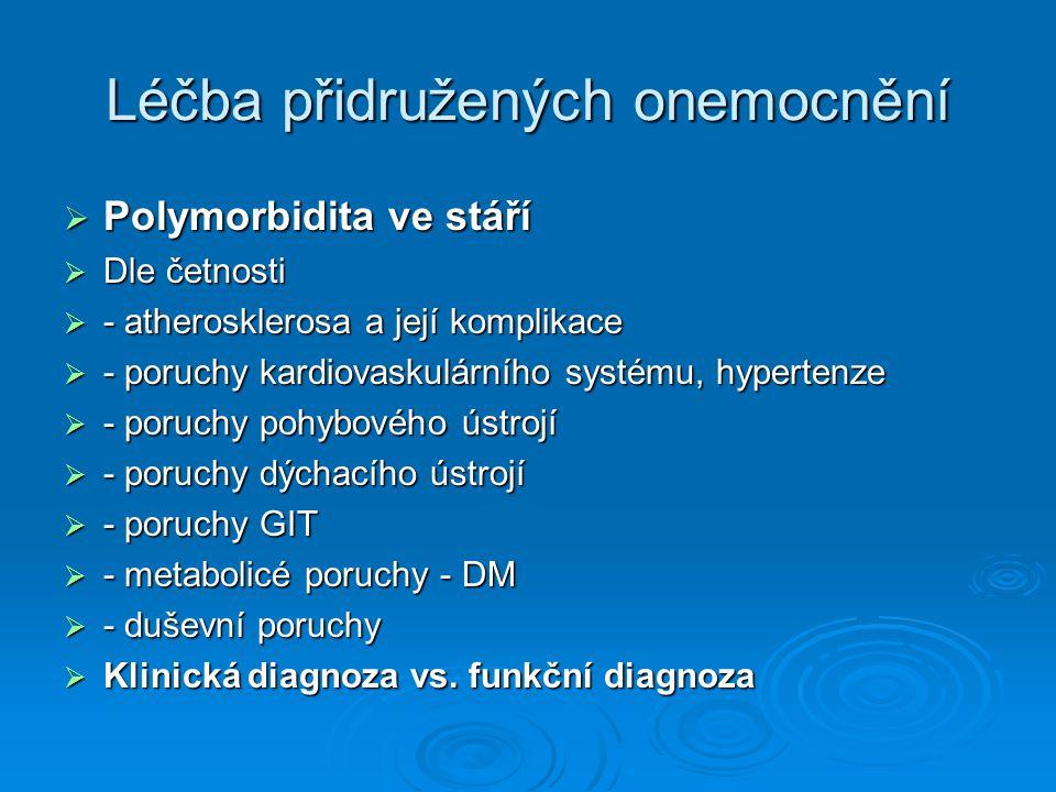 Léčba přidružených onemocnění