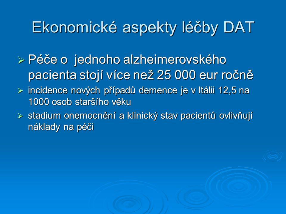 Ekonomické aspekty léčby DAT