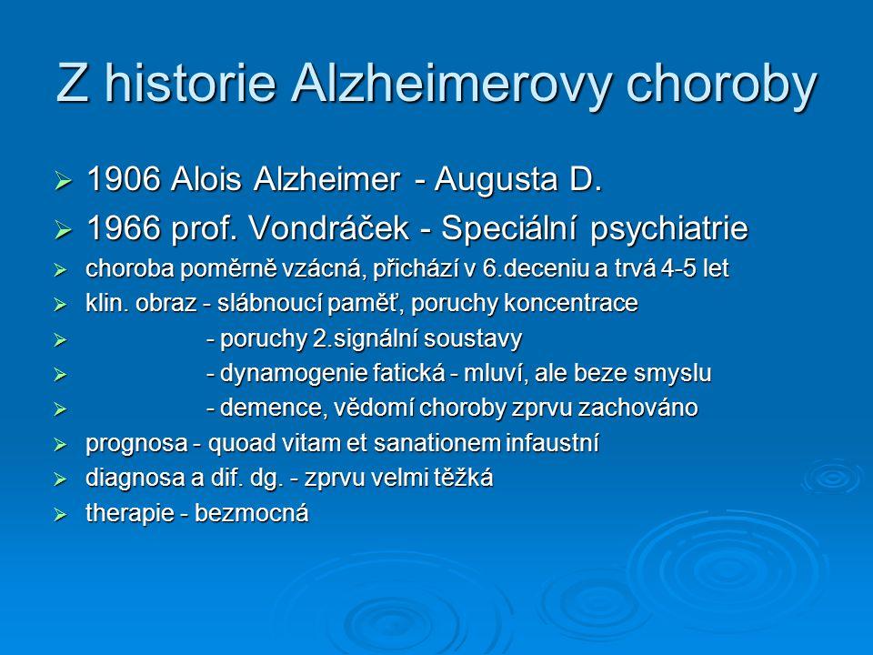 Z historie Alzheimerovy choroby