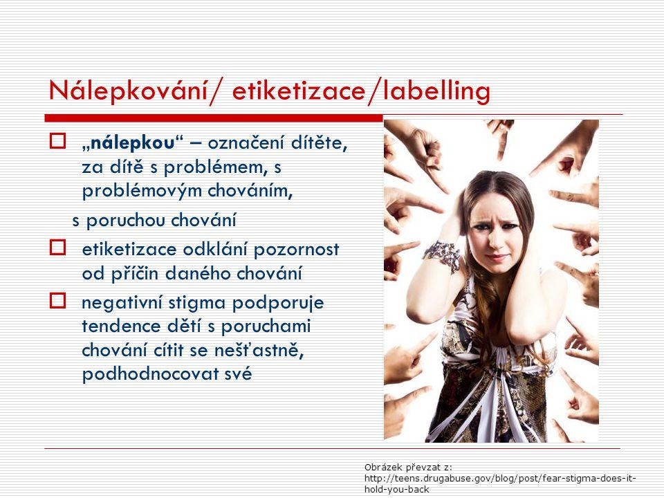 Nálepkování/ etiketizace/labelling