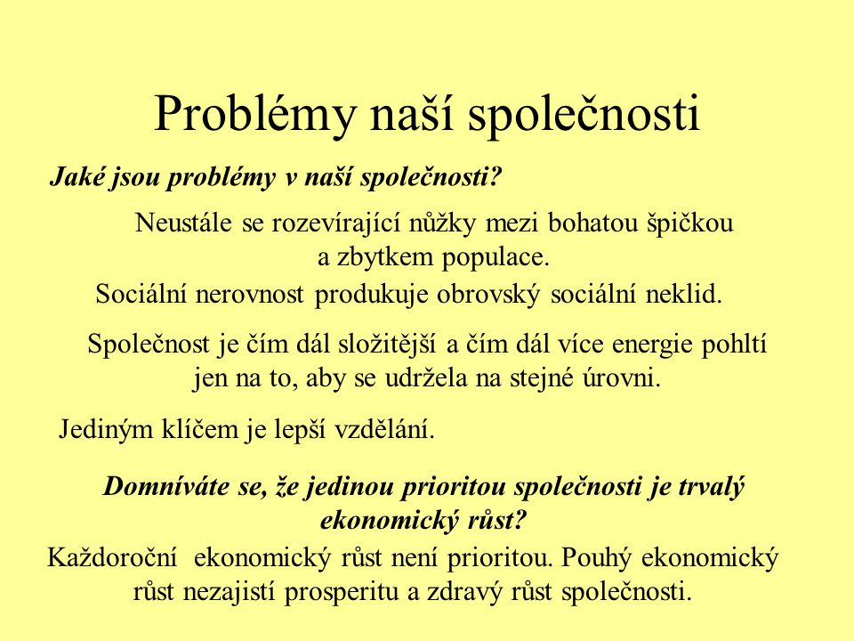 Problémy naší společnosti