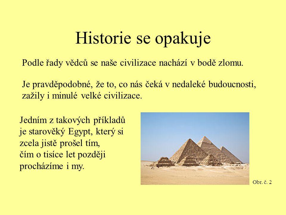 Historie se opakuje Podle řady vědců se naše civilizace nachází v bodě zlomu.