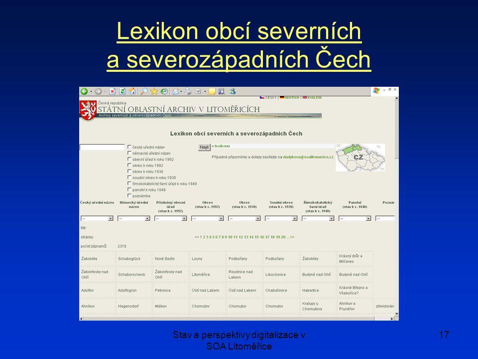 Lexikon obcí severních a severozápadních Čech