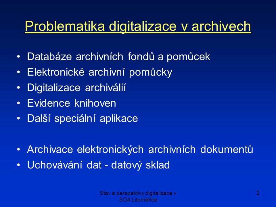 Problematika digitalizace v archivech