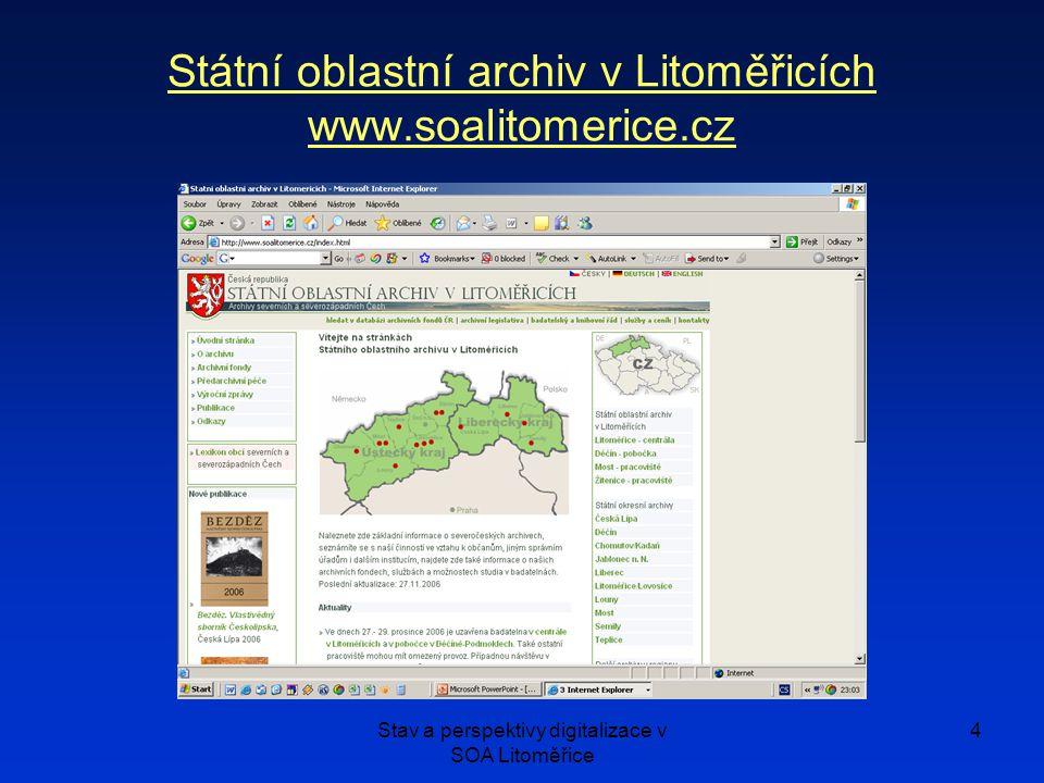 Státní oblastní archiv v Litoměřicích www.soalitomerice.cz