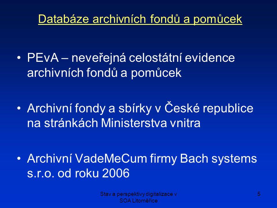 Databáze archivních fondů a pomůcek