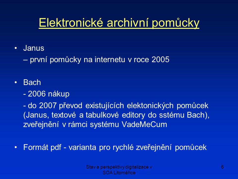 Elektronické archivní pomůcky
