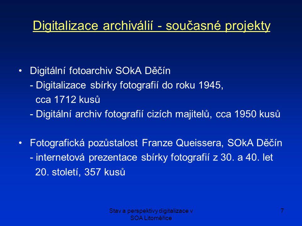 Digitalizace archiválií - současné projekty