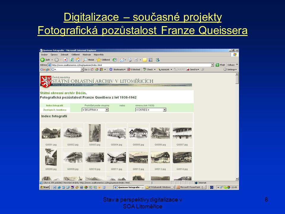 Stav a perspektivy digitalizace v SOA Litoměřice
