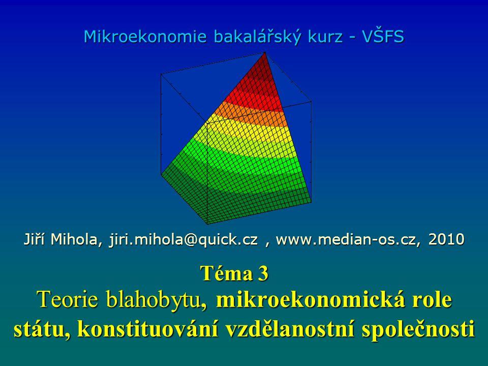 Mikroekonomie bakalářský kurz - VŠFS
