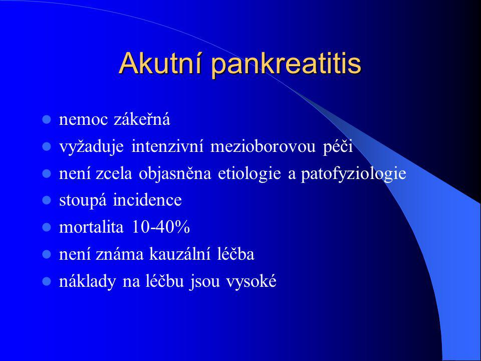 Akutní pankreatitis nemoc zákeřná