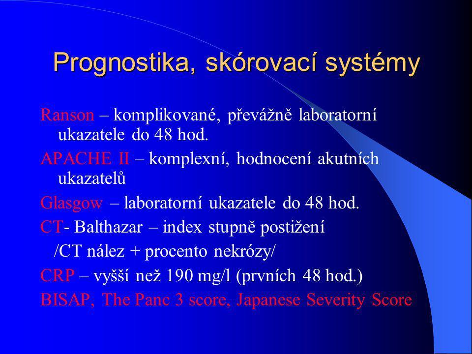 Prognostika, skórovací systémy