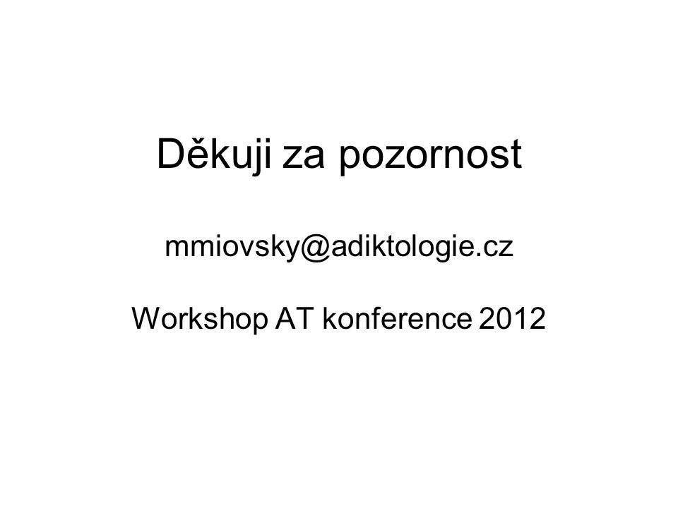 Děkuji za pozornost mmiovsky@adiktologie