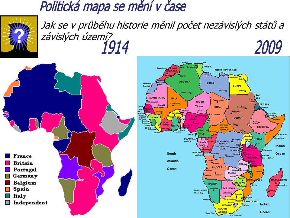 Politická mapa se mění v čase