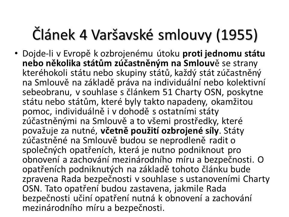 Článek 4 Varšavské smlouvy (1955)