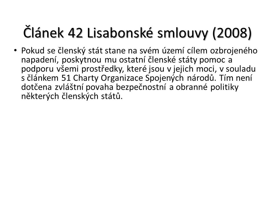 Článek 42 Lisabonské smlouvy (2008)