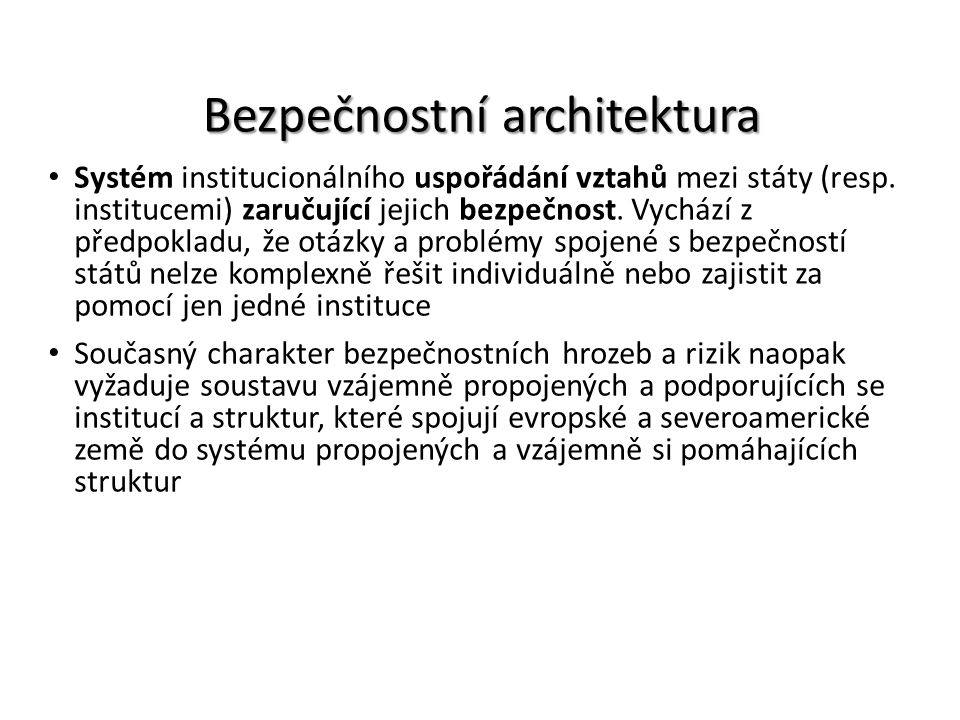 Bezpečnostní architektura
