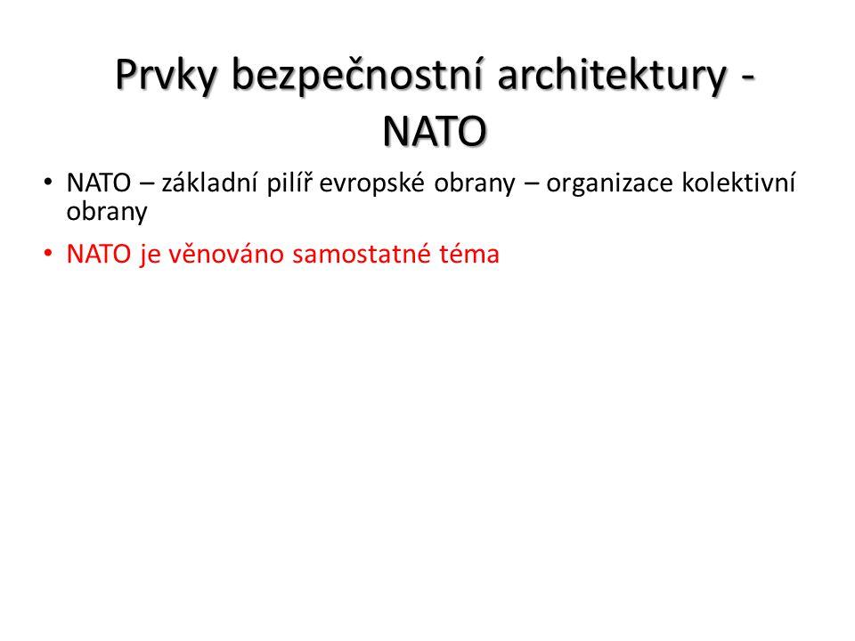 Prvky bezpečnostní architektury - NATO