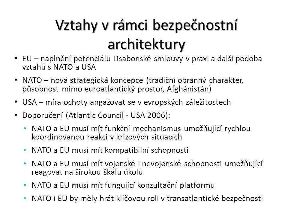 Vztahy v rámci bezpečnostní architektury