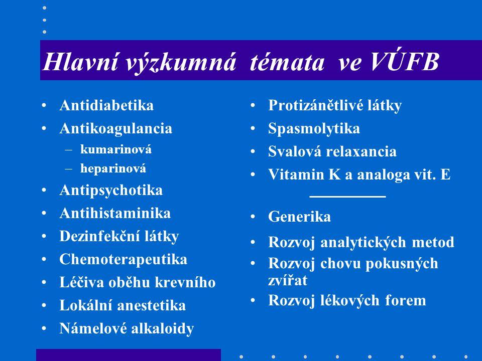 Hlavní výzkumná témata ve VÚFB